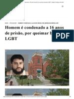 Homem é condenado a 16 anos de prisão, por queimar bandeira LGBT - Instituto Teológico Gamaliel.pdf