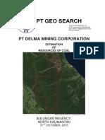 DMC Coal Resource (JORC)report 31 Oct 15 (final)_Summary