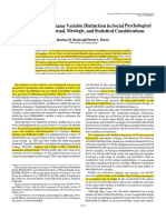 The Moderator-Mediator Variable Distinction in Social Psychological Research