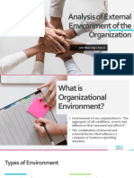Analysis of External Environment of the Organization