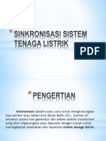 Sinkronisasi Sistem Tenaga Listrik