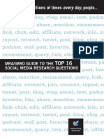 SELASTURKIYE Guide to the Top 16 Social Media Research Questions by MRA-IMRO