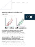 Difference Between Correlation and Regression (with Comparison Chart) - Key Differences