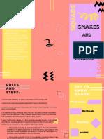 Salmon and Black Creative Brochure