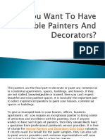 Do You Want to Have Reliable Painters and Decorators