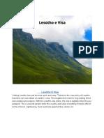 Lesotho e Visa