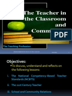 Chapter2 the Teacher in the Classroom and Community