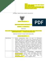 Template Peraturan Bupati Walkot 2019