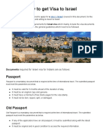 How to Get Visa to Israel?