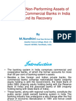 A Study of NPA at scheduled Commercial Banks Presentation