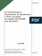 La preservación y restauración de documentos y libros en papel.pdf