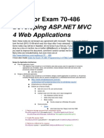 Study Guide for Exam 70-486 Developing ASP.NET MVC 4 Web Applications