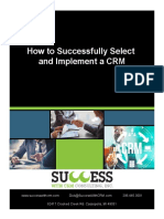 how to select and implement a crm successfully
