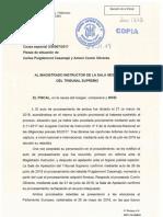 Escrito Fiscalía Puigdemont