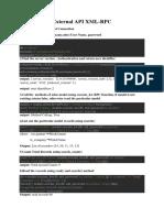 XML RPC in Odoo12