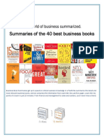 Summaries of the 40 best Business Books .pdf