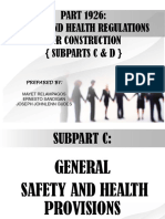 GENERAL SAFETY AND HEALTH PROVISIONS