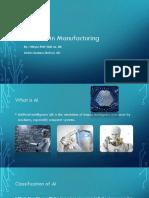 AI & ML in Manufacturing