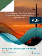 NDU 007 - Critérios Básicos para Elaboração de Projetos de Redes de Distribuição Aéreas Rurais