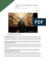 elmundo.es-Daniel Barenboim Tocar en una orquesta es la mejor lección de democracia