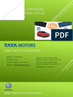 International Strategic Alliance Between Tata & Volkswagen