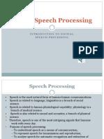 Digital Speech Processing—