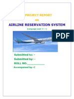 C++  PROGRAM AIRWAYS SEAT RESERVATION :BY  A----- R----