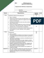 Cuadro de Mantenimiento de 100 horas o anual (Traducido)
