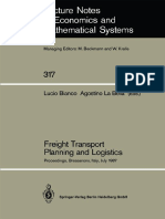 (Lecture Notes in Economics and Mathematical Systems 317) Edward K. Morlok (auth.), Professor Lucio Bianco, Professor Agostino La Bella (eds.) - Freight Transport Planning and Logistics_ Proceedings o.pdf