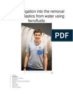 An investigation into the removal of microplastics from water using ferrofluids.docx