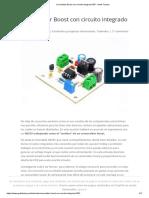 Convertidor Boost con circuito integrado 555 - Geek Factory