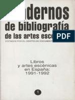 Cuaderno de Las Artes Escénicas