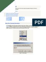 RunCommands and Window Commands -Shortcut Keys