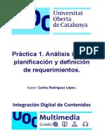 Práctica 1 de Integración Digital de Contenidos - Grado Multimedia UOC