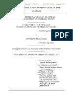Justice Dept supplemental brief on Don McGahn