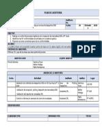Formato Plan de Auditorias Internas de Calidad