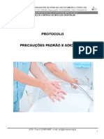 Protocolo de Precauções Padrão e Adicionais Isolamentos HRLB