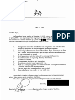 1999 Disciplinary Letter