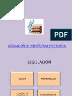 Legislación básica del profesorado