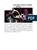5 Tips for Your New Year's Fitness Goals