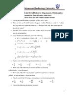AASTU maths