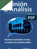 Opinión y análisis. Elecciones Municipales en Lima