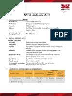 XYZ Filament_Antibacterial PLA_MSDS_v1.0