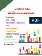 VACACIONES ÚTILES 2019 afiche