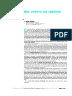 Techniques de L'Ingénieur - Dynamique Des Rotors en Torsion - Introduction