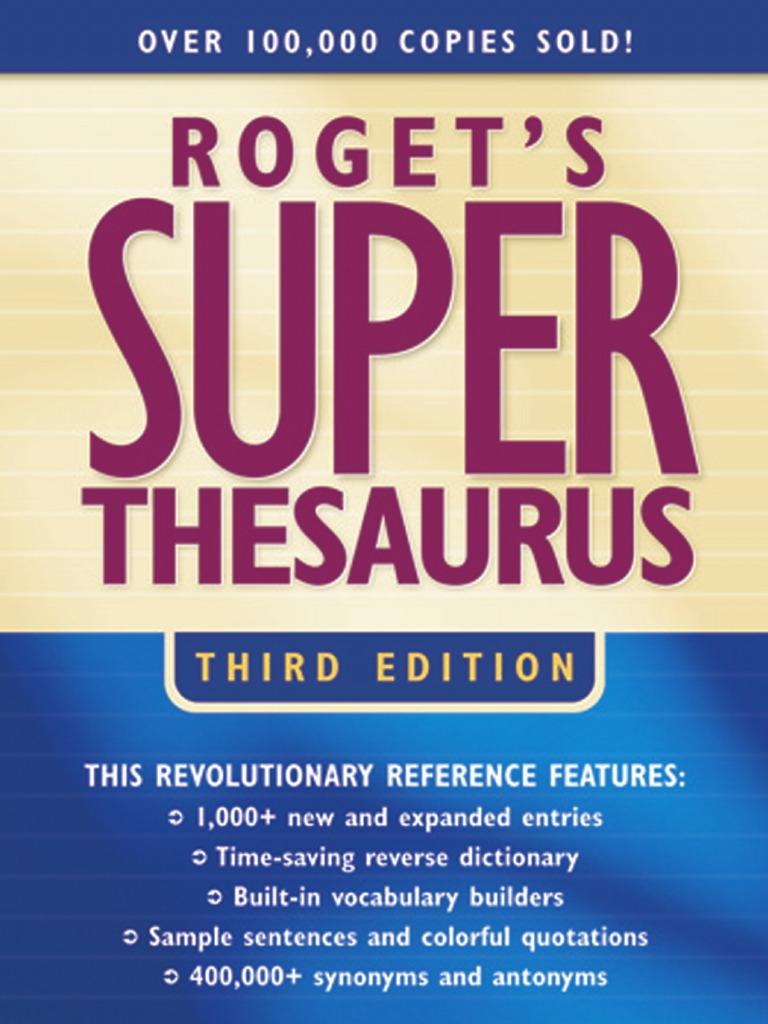 Roget U0026 39 S Super Thesaurus  3rd Edition 2003