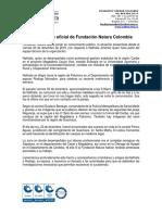 Comunicado oficial Fundación Natura