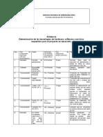 AP02-AA3-AV04. Determinación de las tecnologías de hardware, software y servicios requeridos para el proyecto en desarroll