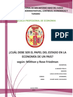 El Papel Que Debe Asumir El Gobierno en La Economía de Un País
