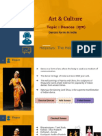 Art & Culture - Dances For UPSC